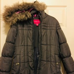 ❤️Girls London Fog Fur Lined Parka size 14/16❤️